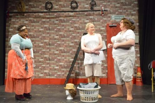 Natasha Magigi as Sandra Eric Potts as Les and Steve Nallon as Roy (1) (800x533)